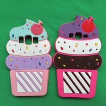 3D Cartoon Cute Cherry Ice Cream Soft Silicon Rubber Skin Back Case Samsung Galaxy J1 / Ace J2 J5 J7 Cover Capa - Catherine Store store