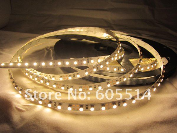 [Seven Neon]non-waterproof 120leds/M 600leds warm white 3528 flexible led smd strip 5meters/lot(China (Mainland))