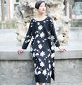 NEW 2014 Plus size Women  Vintage linen  fluid loose one-piece dress full dress female summer dress maternity dress casual dress
