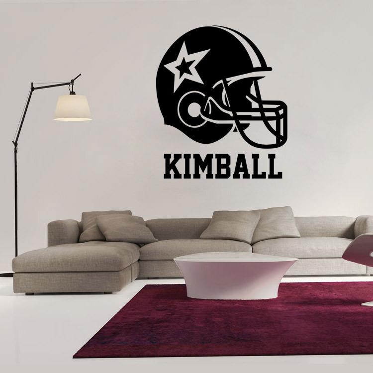 American football helmet wall stickers home decor boys bedroom sports poster for kids room Decorative Vinyl brand Wallpaper(China (Mainland))