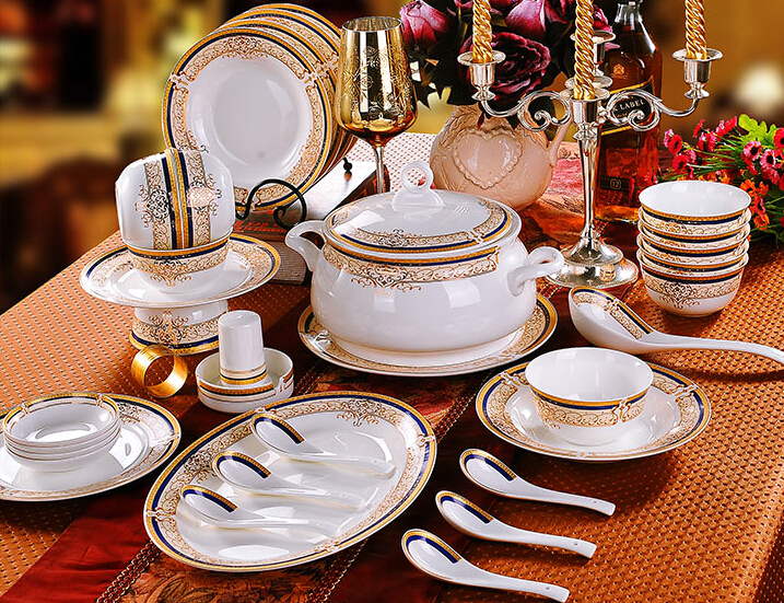 Online kaufen gro handel gold crockery aus china gold for Grossiste vaisselle restaurant