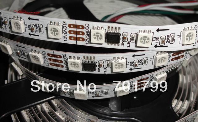 5m DC12V 60leds/m 20pcs ws2811 ic/meter(20pixels) led digital strip;IP33;non-waterproof