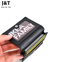 100% First Layer of Cowhide Genuine Leather 2015 New Men's Business Credit ID Card Case Card Holders Cover Female High Quality