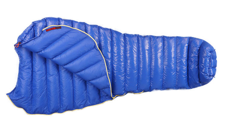 outdoor ultralight mummy type white Goose down camping ...
