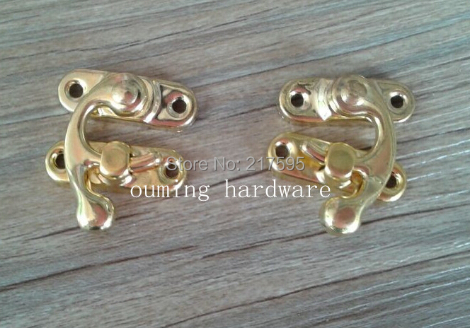 Free shipping wholesale golden color horn lock hasp for wooden and wine box 29*33mm <br><br>Aliexpress