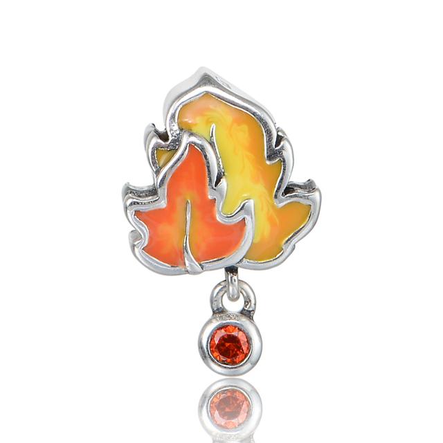 925 - серебристо-ювелирные бусины кленовые листья мотаться бусины Fit Chamilia пандора браслеты серебро 925 DIY
