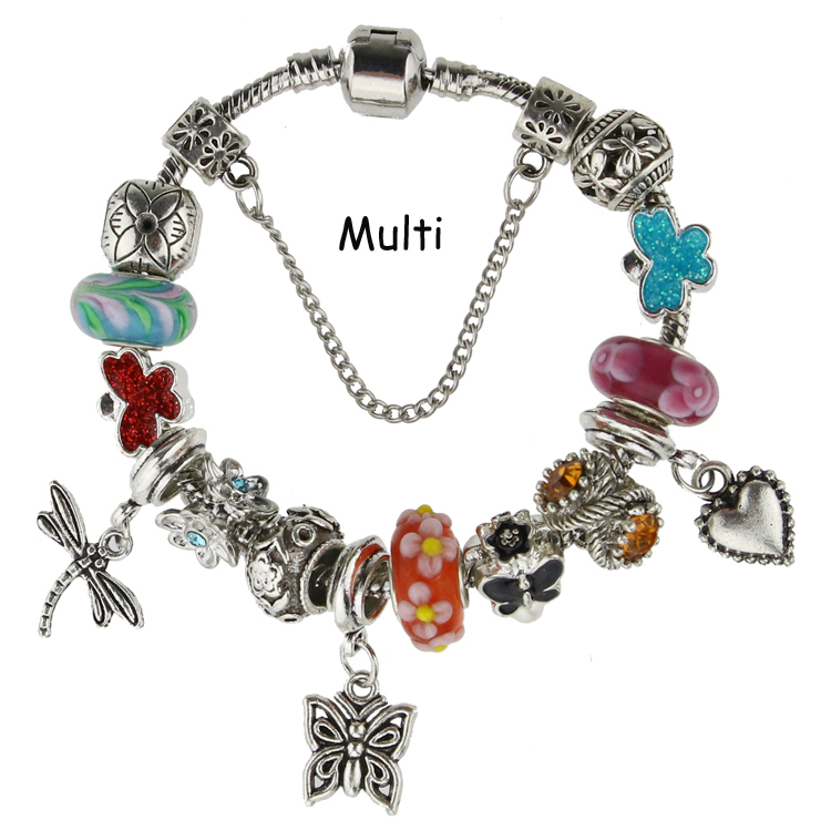 New Fashion DIY Charm Fit pandora Bracelets for Women Chain Beads Jewelry Allergy free Gfit(China (Mainland))