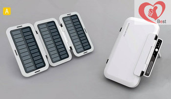 Free shipping Chandral Solar mobile power supplyPortable power  Emergency charging power supply 3000mAh/6000mAh