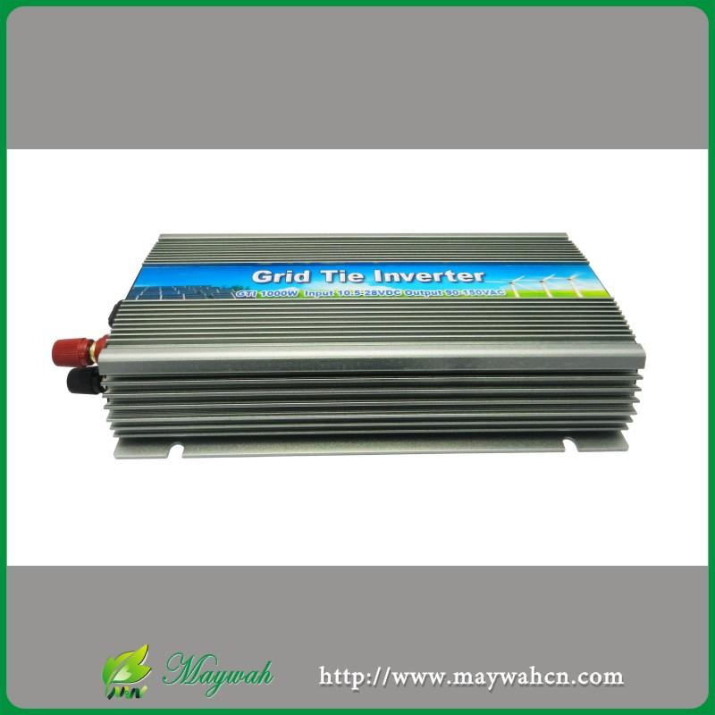 NEW!!!22-50V 1000W Solar Pure Sine Wave Grid Tie Micro Inverter, Output 190-260V.50hz/60hz, For Alternative Energy Home System(China (Mainland))
