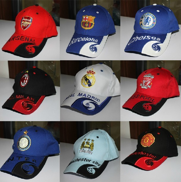 Football fans cap baseball hat(contants  all kinds of football clubs)