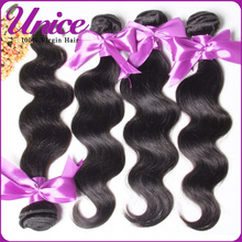 Unice Hair 6A Peruvian Virgin Hair Bundles 3pcs/lot Peruvian Virgin Hair Body Wave Unprocessed Peruvian Human Hair Weave(China (Mainland))