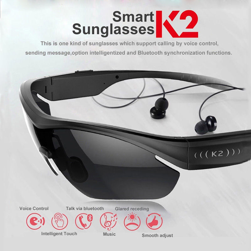 Free Shipping K2 Smart Sunglasses Wireless Bluetooth Headphone Polarized Eyewear