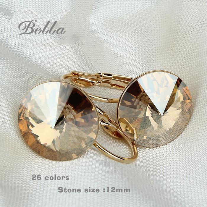 2015 Fashion Jewelry Gold plated earrings for women fashion Austrian crystal Luxury Purple Drop earrings E0001(China (Mainland))