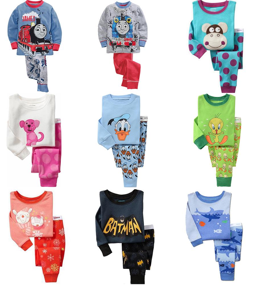 2015 Spring Autumn Kids Clothes Baby Boys Girls Clothing Long Sleeve Costumes Cotton Pajamas PJS Childrens Pyjamas Pijamas Sets(China (Mainland))
