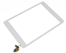 OEM New For iPad mini Digitizer Touch Screen with IC Connector Home Flex Assembly White Color & Free DHL Shipping 10 pcs/lot(China (Mainland))