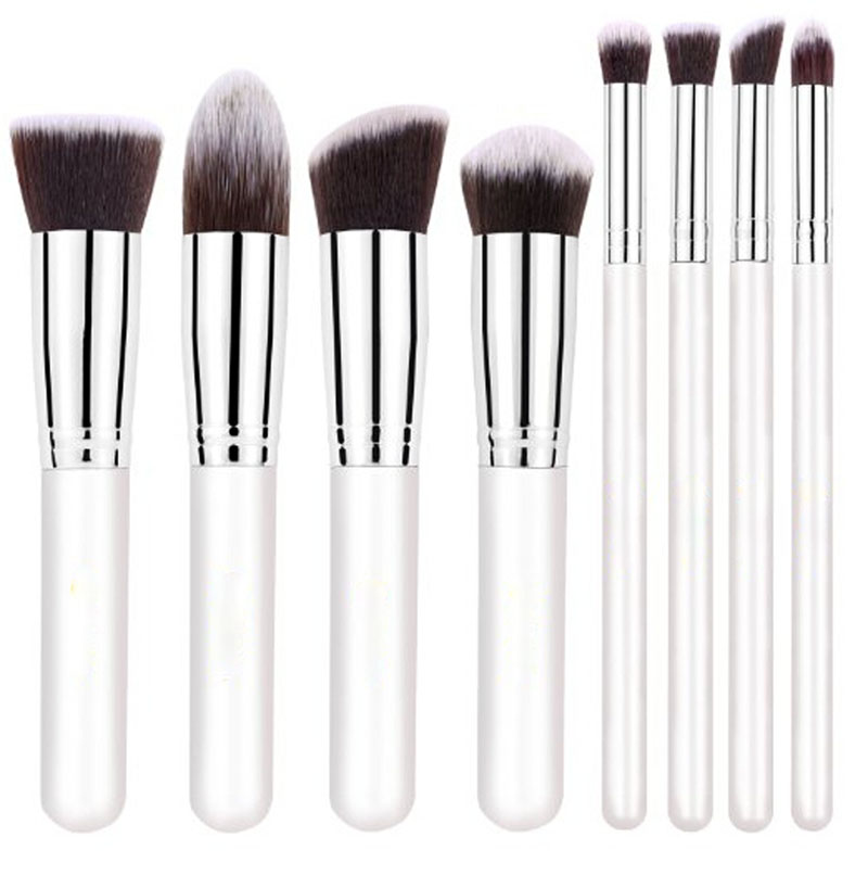 8Pcs Kabuki Professional Make Up Brush Set Cosmetic Liquid Powder Foundation Makeup Brushes Set Kit Face Eye Brush Wholesale(China (Mainland))