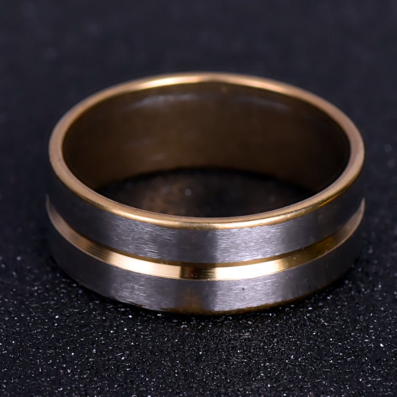 nj150 2016 Hot sale do not change color silver pited wedding ring couple ring for men and women frosted
