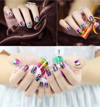 Sale 10 roll  4cm*120cm Nail Foil nails sticker colored aluminum nail transfer foil paper Free shipping XK02