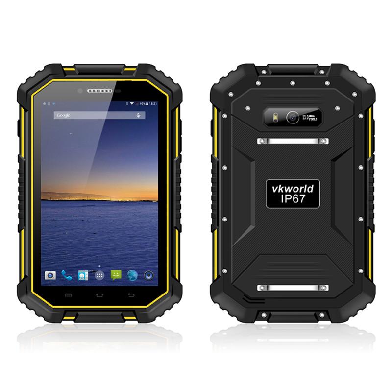 "2016 New VKWorld V6 Tablet PC 4G 7.0"" Waterproof IP67 Smartphone Android 4.4.4 MT8732VC quad core 2GB RAM 16GB ROM 10000mAh OTG"
