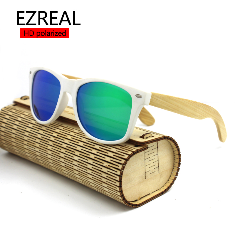 2016 men Bamboo Sunglasses Brand Designer Wooden Sunglasses polarized Mirror Original Wood Sun Glasses Oculos de sol masculino(China (Mainland))