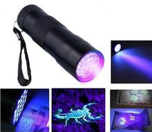 Buy Mini Aluminum Portable UV Flashlight Violet Light 9 LED UV Torch Light Lamp Flashlight outdoor camping usful tools for $1.05 in AliExpress store