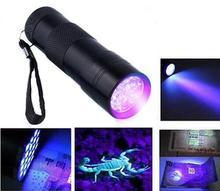 Mini Aluminum Portable UV Flashlight Violet Light 9 LED Torch Lamp outdoor camping usful tools - sunshine*lavinia store