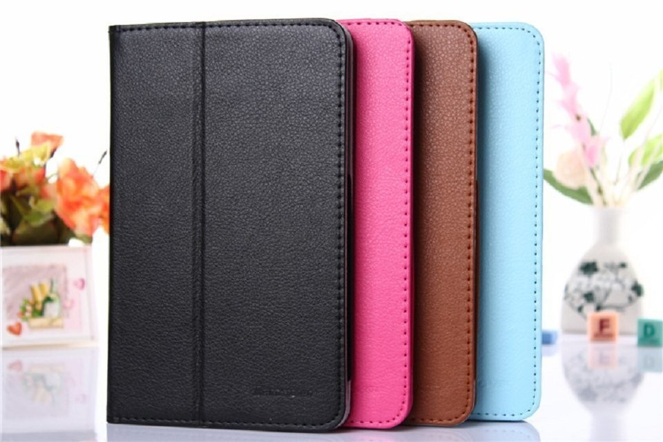 Folio PU Stand Leather Case Cover Lenovo Tab A7-50 A3500 7 inch Tablet PC+ screen protetcors+stylus - minibox store