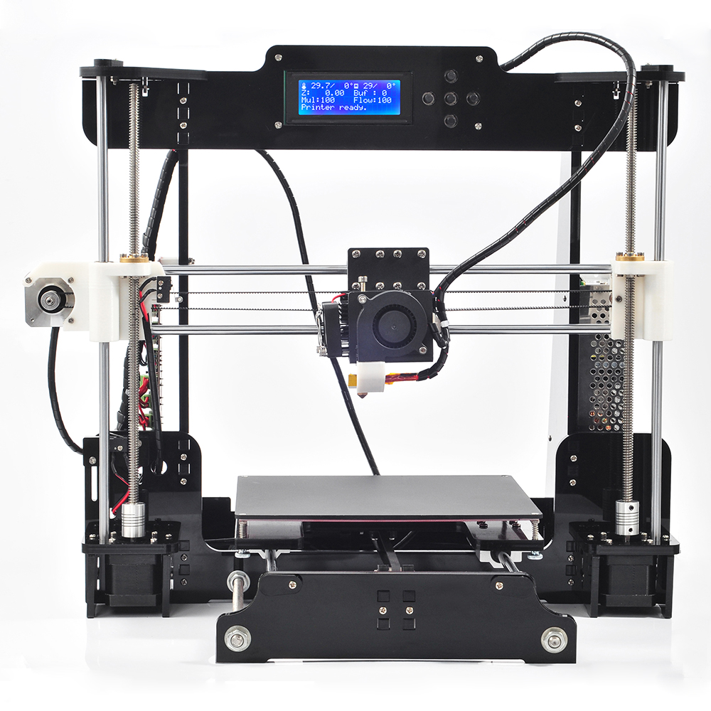 Здесь можно купить  2016 New Big Acrylic Frame Reprap Prusa I3 DIY 3D Printer 3 D impressora KIT Machine with 2rolls filament LCD Screen 8G SD Card  Компьютер & сеть