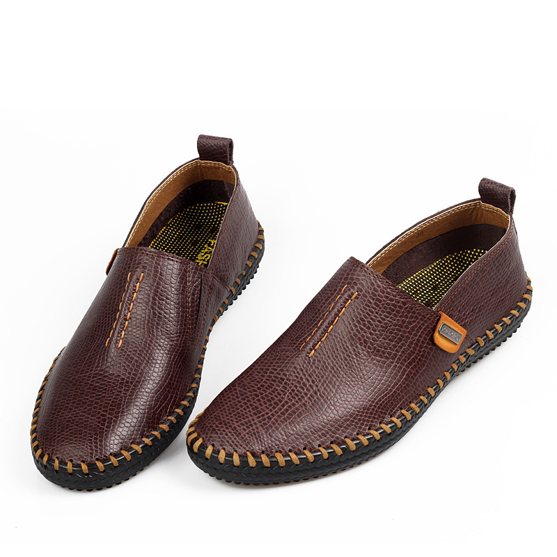 2015 genuine leather flats mens mocassin soft loafers