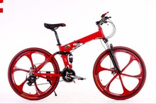 "High Quality Mountain bike 24 3x8 speed double damping double disc brake folding bike 26 inch Suspension Man Bicycle 26""(China (Mainland))"