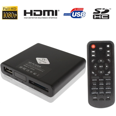Full HD 1080P HDMI MultiMedia HDD player with SD / MMC Card / USB Slot Support External Removable Hard Disk Storage(China (Mainland))