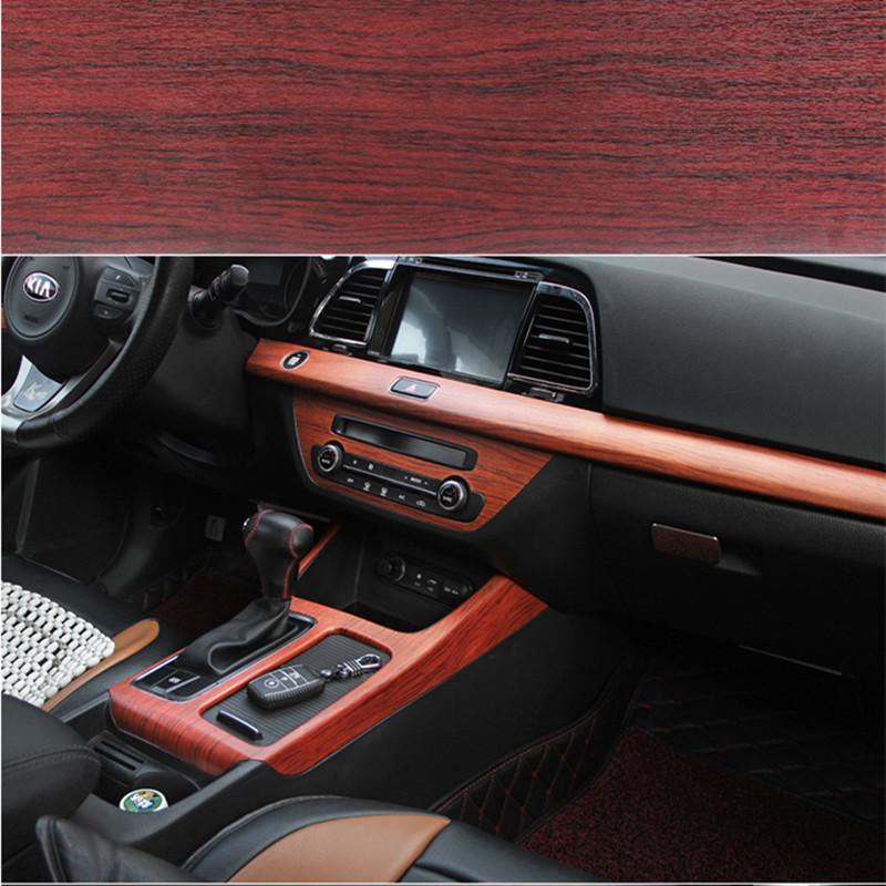 40 100cm car styling self adhesive vinyl furniture wood grain vinyl car wrap car internal. Black Bedroom Furniture Sets. Home Design Ideas