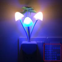 10Pcs EU/US Plug Romantic Colorful Sensor LED Mushroom Night Light Lamp Home Decor LED Bed Lamp Night Light Energy Saving RM010