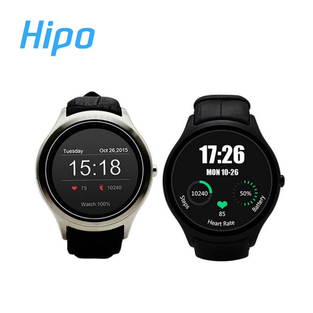 Hipo X1 SmartWatch Android 4.4 Heart Rate Monitor Pedometer GPS WiFi Bluetooth 4.0 Phone Smart Watch(China (Mainland))