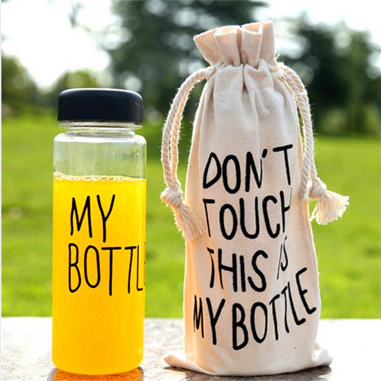 Clear My Bottle with bag 500 ml Sport Fruit Juice Water Cup Portable 500ml Travel Mug bootle botle mybottle bouteille May bottl(China (Mainland))