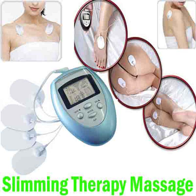 Electric body Slimming Massager Pulse Muscle neck back shoulder feet Pain Relief Fat Burn fitness massage & relaxation 4 Pads(China (Mainland))