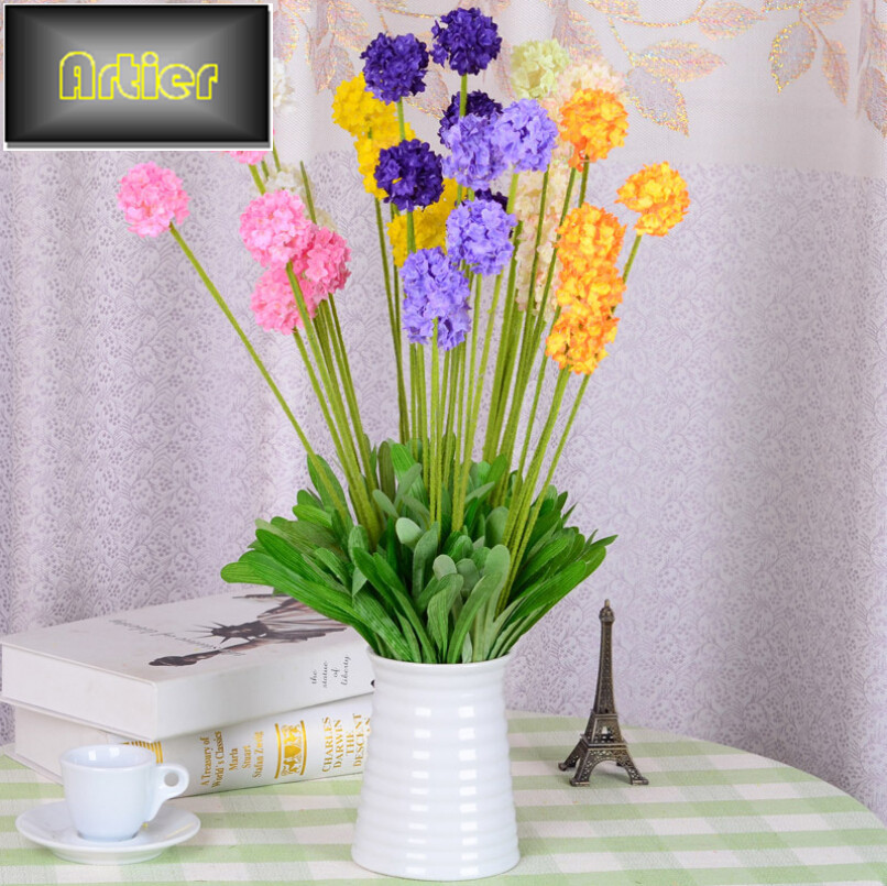 Artificial Flower Lavender Ball Hydrangea Juanhua Artificial Flower Floral Decorations Living