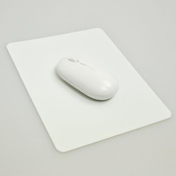 White non-slip washable portable thin soft wrinkle fine silicone gel mouse pad