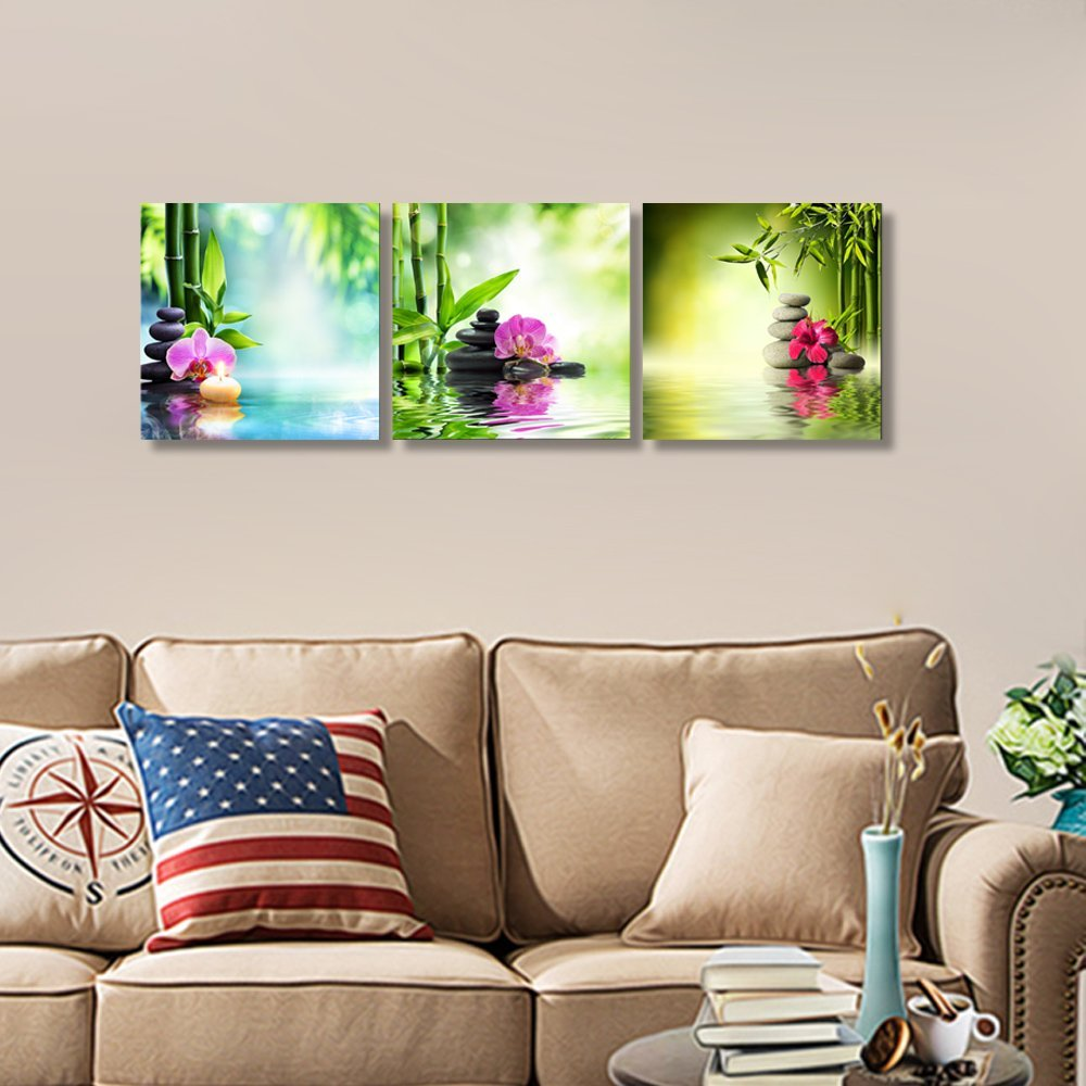 Compare prices on flower wall painting online shopping for Wall paint buy online