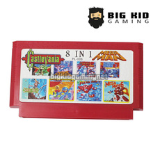 Buy Megaman 8 1  (Mega Man 1/2/3/4/5/6 + Castlevania 1/2) Game Collection 60 Pin Game Card 8 Bit Game Player for $5.49 in AliExpress store