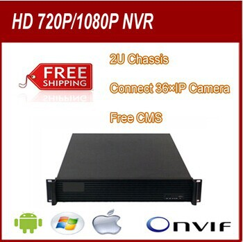 36 CH HD NVR, 100% Free software,Support 3MP/720P/1080P IP Cameras,8 SATA HDD port,Dual Stream, 2 U Chassis, Onvif 2.0.<br><br>Aliexpress
