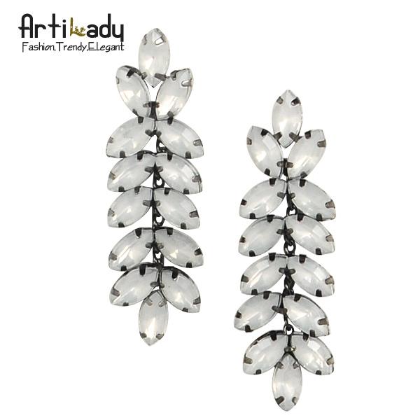 Artilady  noble wheat ear full crystal drop earrings 2015 fashion luxury ear pins  women earring jewelry