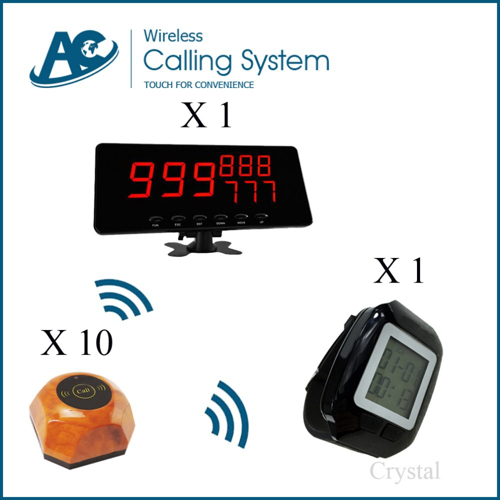 high quality durable-use fast-food restaurant customer call waiter small waiter paging system(China (Mainland))