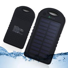 Solor charger 4000mah Portable Waterproof Solar Power Bank Dual-USB Solar Battery Charger for All Phone