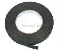 2-23mm x10m 0.5mm thickness Black Super Strong Self Adhesive Foam Car Trim Body Double Sided Tape Mobile phone dust-proof tape(China (Mainland))