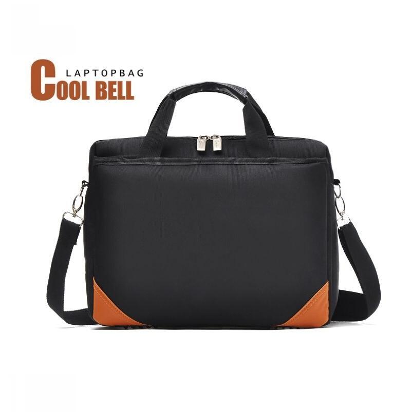 Cool Bell luxury brand laptop bag case Unisex computer bag purse 2016 Men&women oxford messenger bag black crossbody bag(China (Mainland))