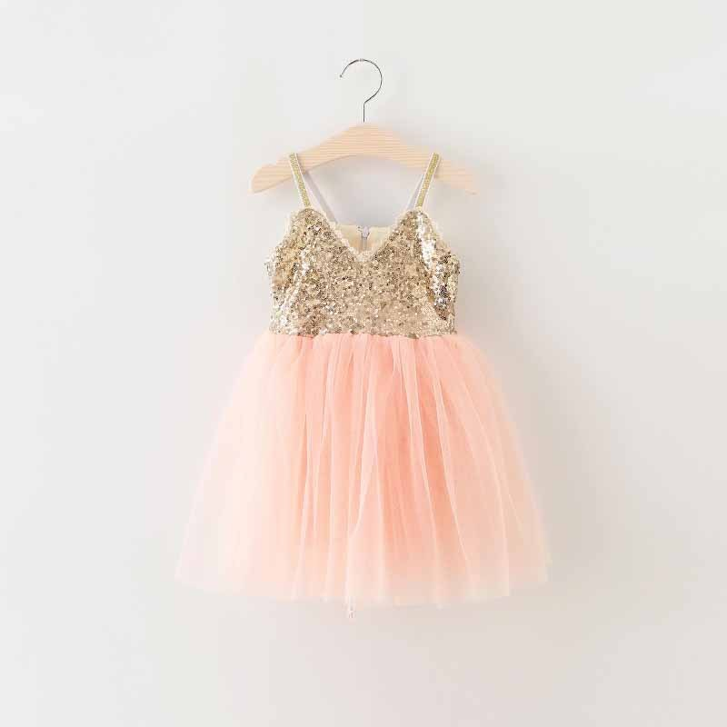 EMS DHL Free shipping little girls Kids Pink Party Princess Tulle Dress Summer Occasion Dress Holiday wear Sparkle Party Dress<br><br>Aliexpress
