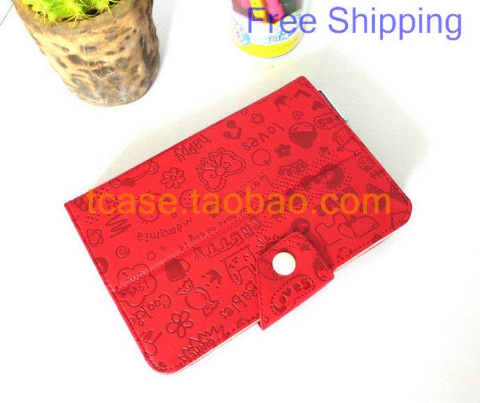 "7"" GPAD F117 pipo smart s3 EKEN W70+ Lenovo f1 Tablet Cute Fashion LEATHER CASE Cover +Stylus+Film Free Shipping(China (Mainland))"