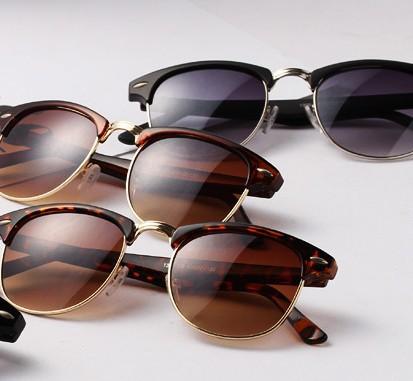 Fashion vintage square rivet sun glasses elegant women men sunglasses 100%