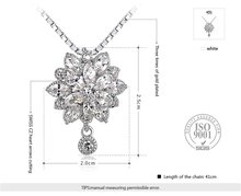G S Brand Statement Necklace New Year s Gift For Lover s Crystal Flower Necklace Pendant